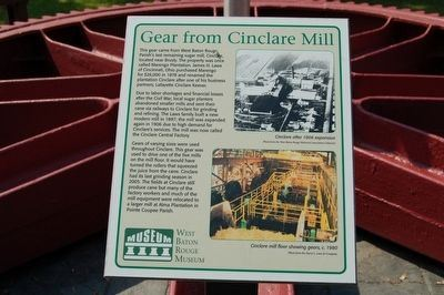 Gear from Cinclare Mill Marker