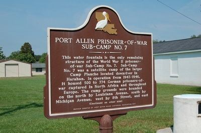 Port Allen Prisoner of War Sub Camp Number 7 Marker